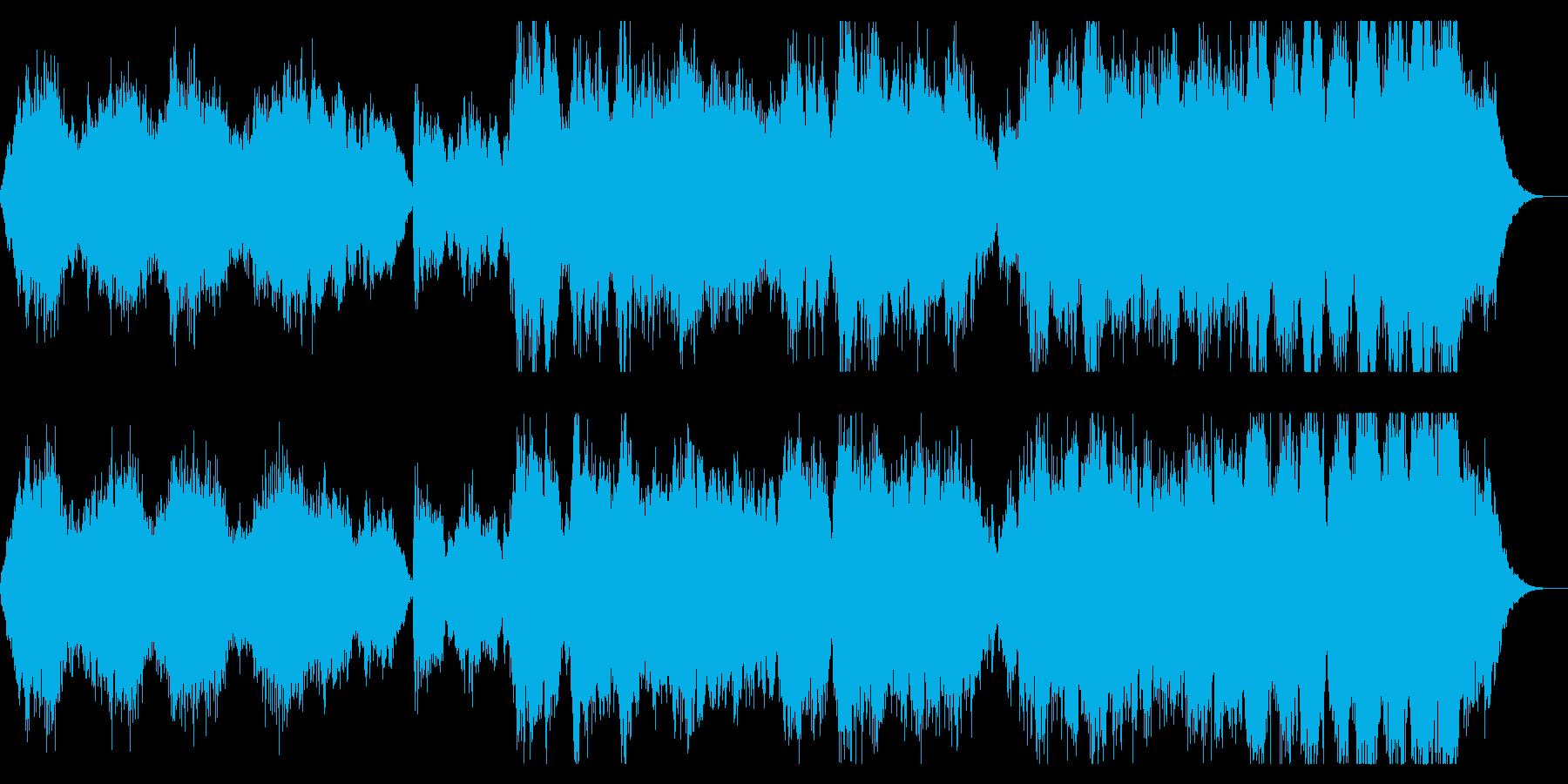 荘厳なダークファンタジー系オーケストラの再生済みの波形