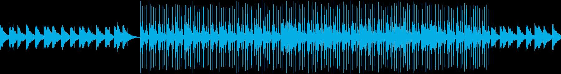 Slowなディープハウス系のループの再生済みの波形