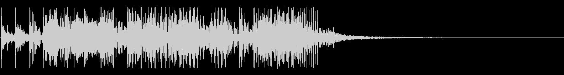 80年代風3ピースのファンキージングルの未再生の波形