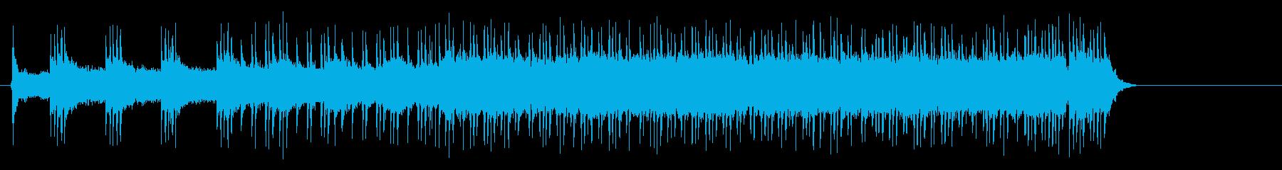 エキサイティングなスポーティロックの再生済みの波形