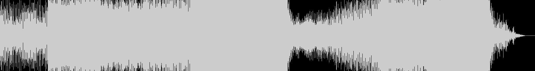 エネルギッシュなシンセトラックの未再生の波形