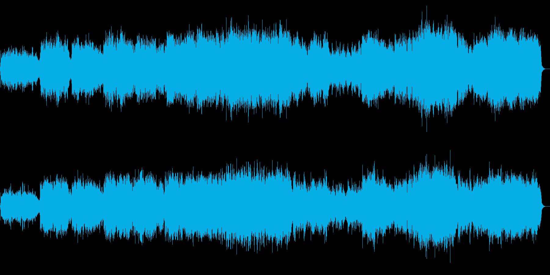 黄昏時の感動的なトランペットのBGMの再生済みの波形