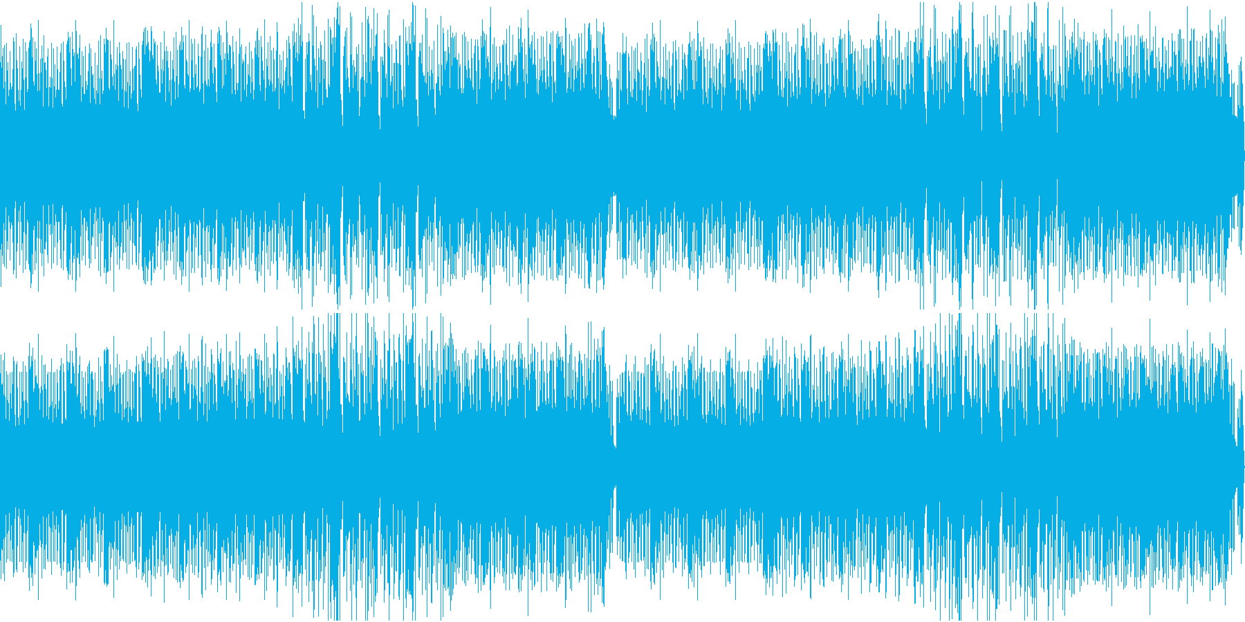 パーティーイメージのノリが良いBGMの再生済みの波形