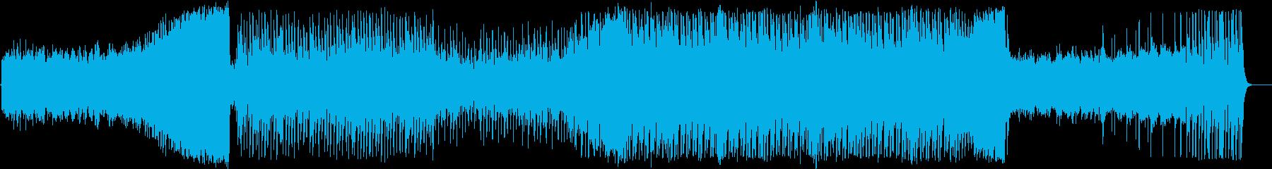 カノンとテクノのフュージョンの再生済みの波形