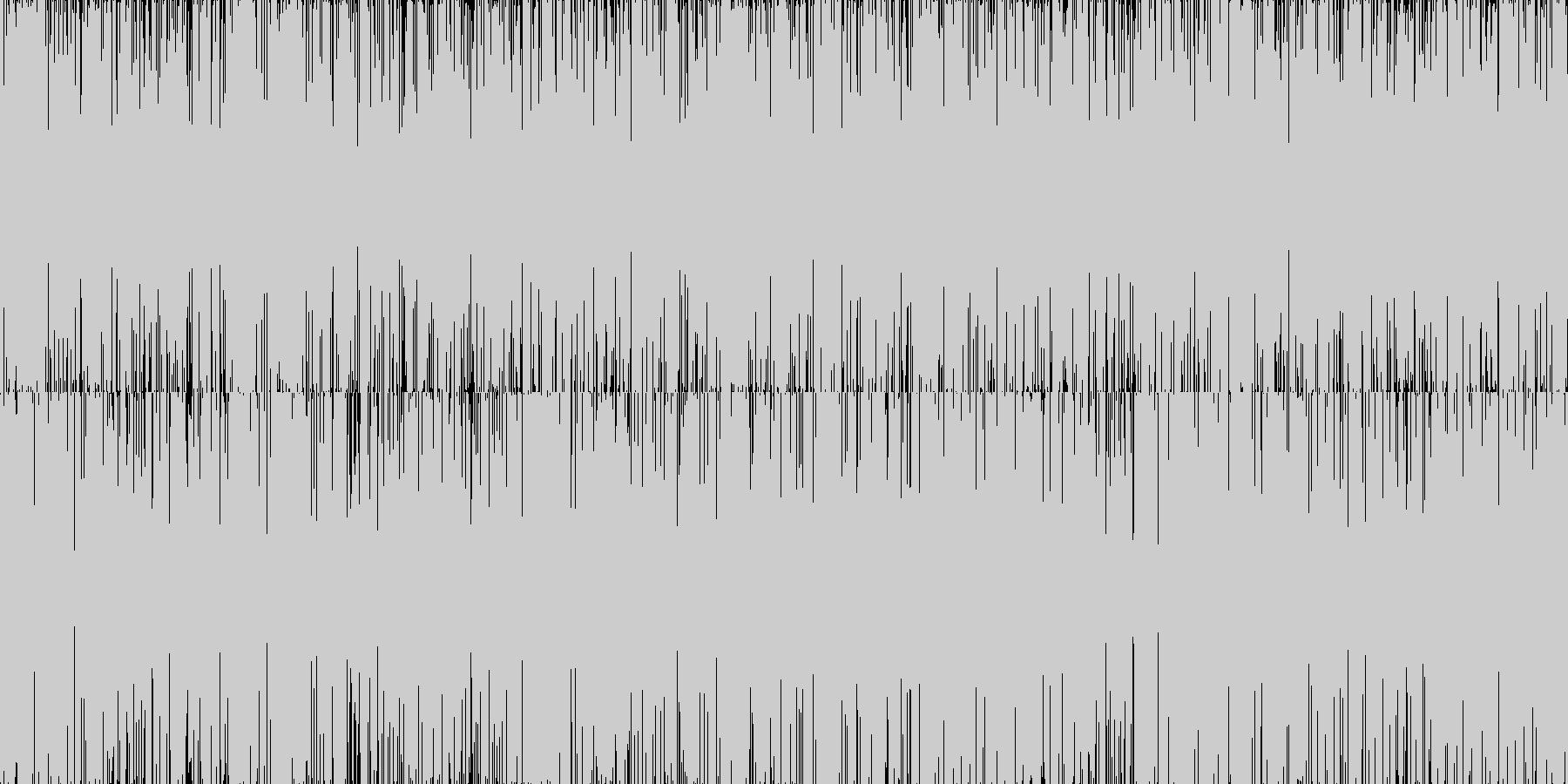 ザー...。雨の音(長め)の未再生の波形