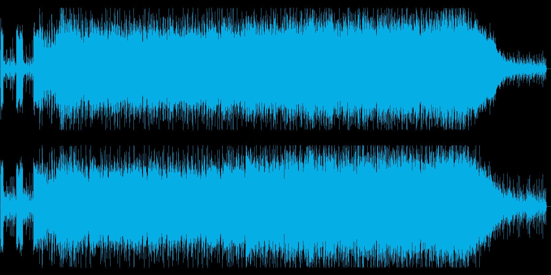 クールでエキサイティングなロックの再生済みの波形