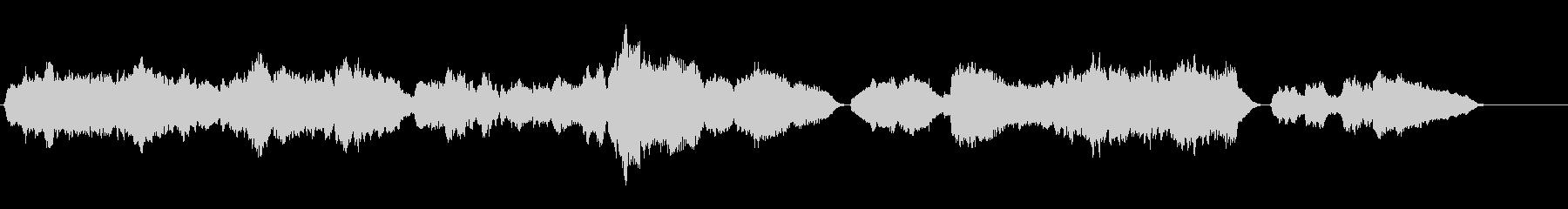 穏やかな朝のイメージの生サックス四重奏の未再生の波形