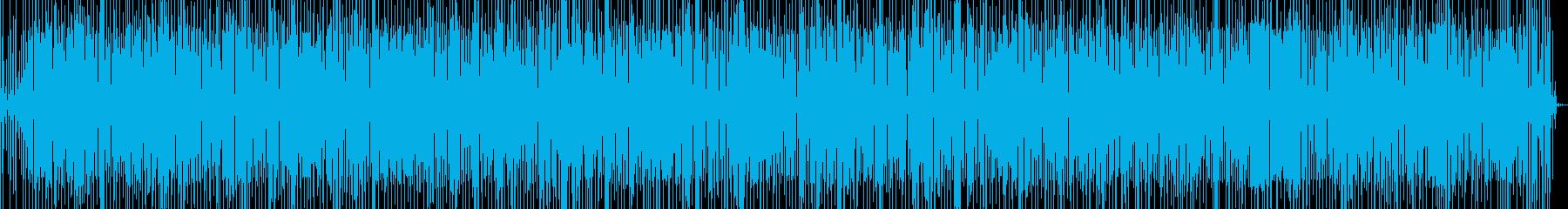 ファンクとルンバの融合したグルーヴと歌の再生済みの波形