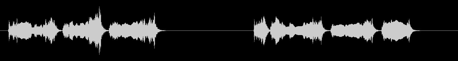 2つの孤立したハヤブサの叫びの未再生の波形