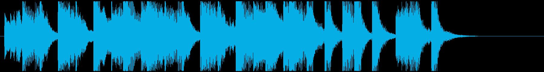 軽快なノリのスウィング系ジングルの再生済みの波形