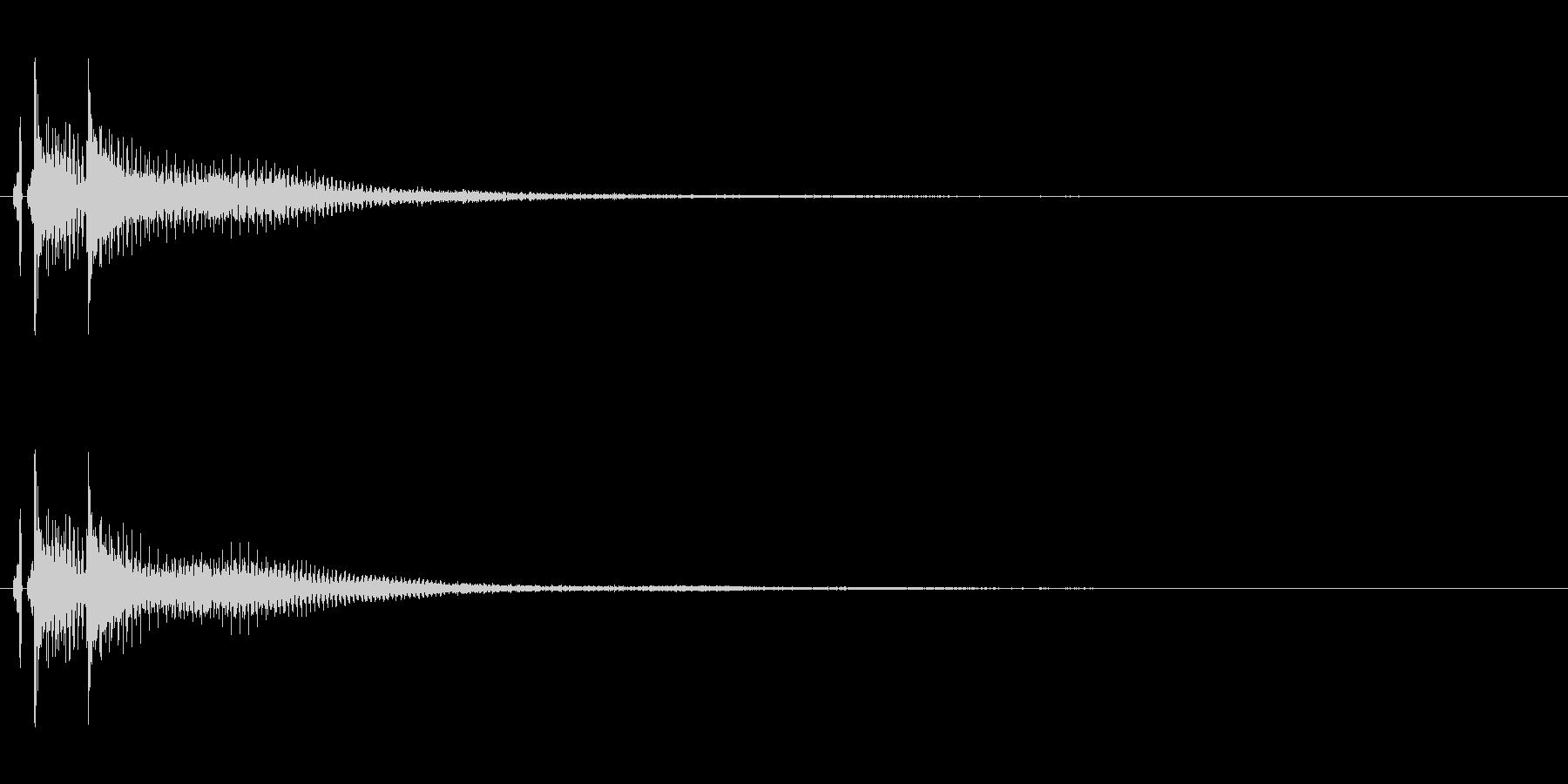 三味線。決定音。ベベン。の未再生の波形