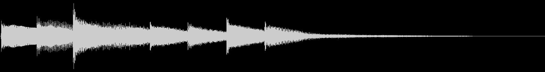 【暗い雰囲気】シンプルなピアノジングルの未再生の波形
