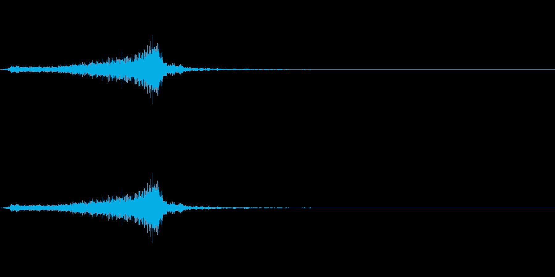 サッサッ(ほうきで掃く音)の再生済みの波形