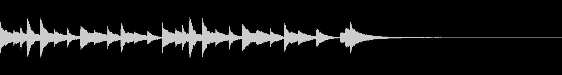 切ないピアノのジングル7の未再生の波形