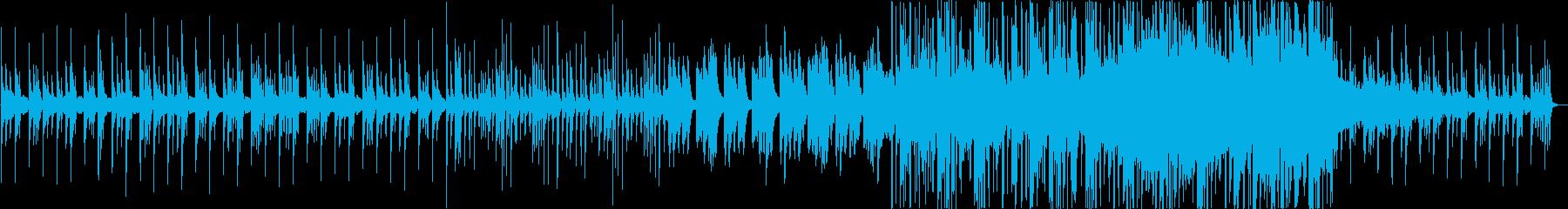 懐かしさを感じる温かいメロディのBGMの再生済みの波形
