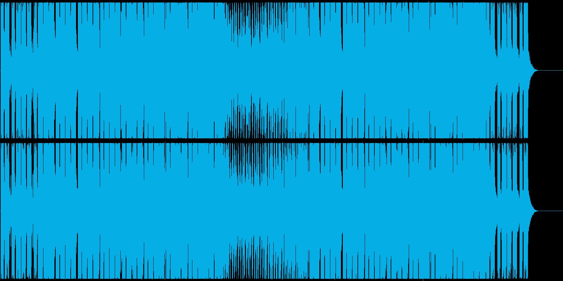 爽快なシンセのポップなEDMハウスの再生済みの波形