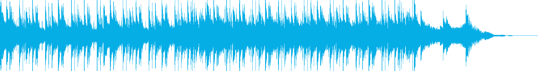 ホラーな感じのBGMの再生済みの波形