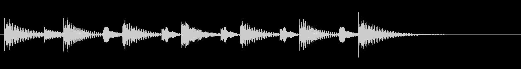 【マリンバ】明るくシンプルなジングルの未再生の波形