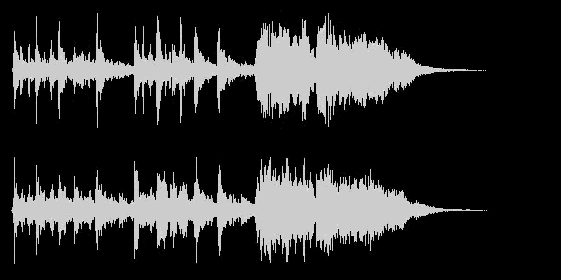 幻想的なハーモニー音楽の未再生の波形