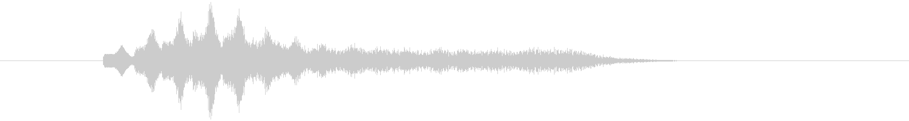 不気味なアルペジオ 6の未再生の波形