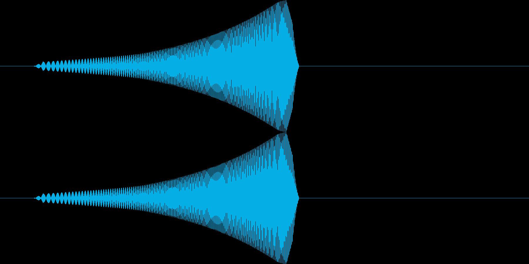 ポワッ【浮く、泳ぐ、反応する】の再生済みの波形