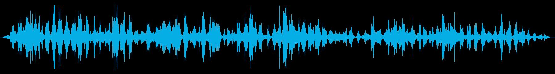 小さな屋内の群衆:会話中の激しい笑いの再生済みの波形