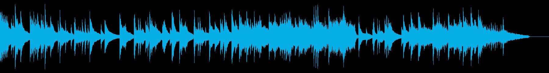 ピアノとストリングスのしっとり系BGMの再生済みの波形