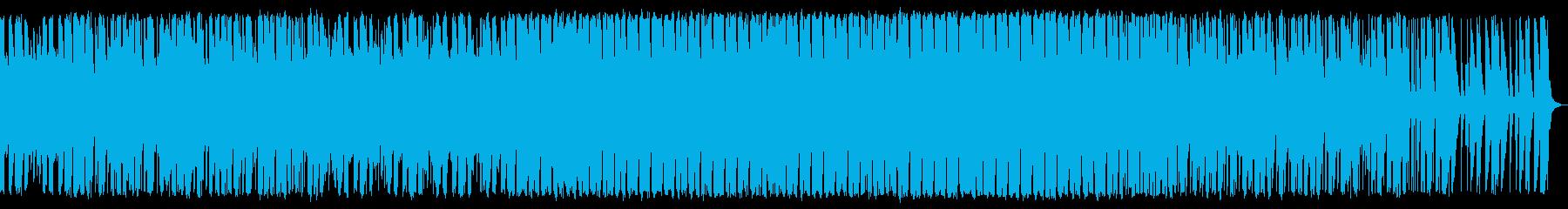 陽気な感じの南国ビートの再生済みの波形