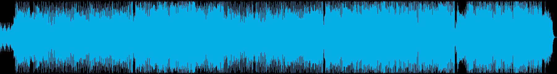 軽快で快活、明るく元気のあるテクノポップの再生済みの波形
