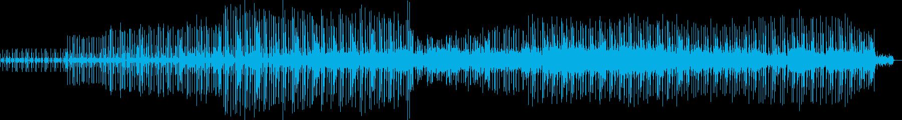 ミステリアスな雰囲気のファンクフュージョの再生済みの波形