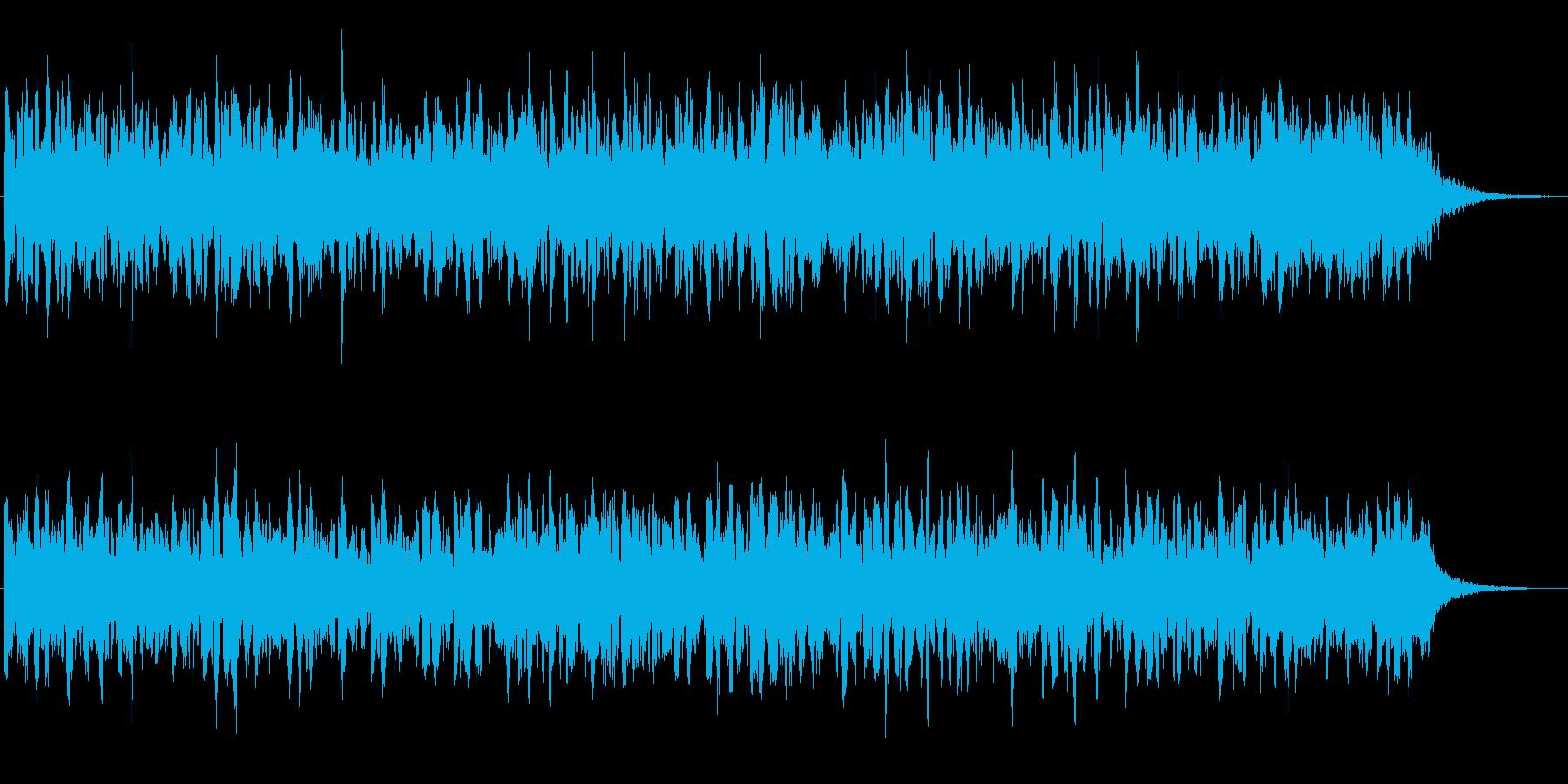 エレクトリックなベースのほのぼのジングルの再生済みの波形