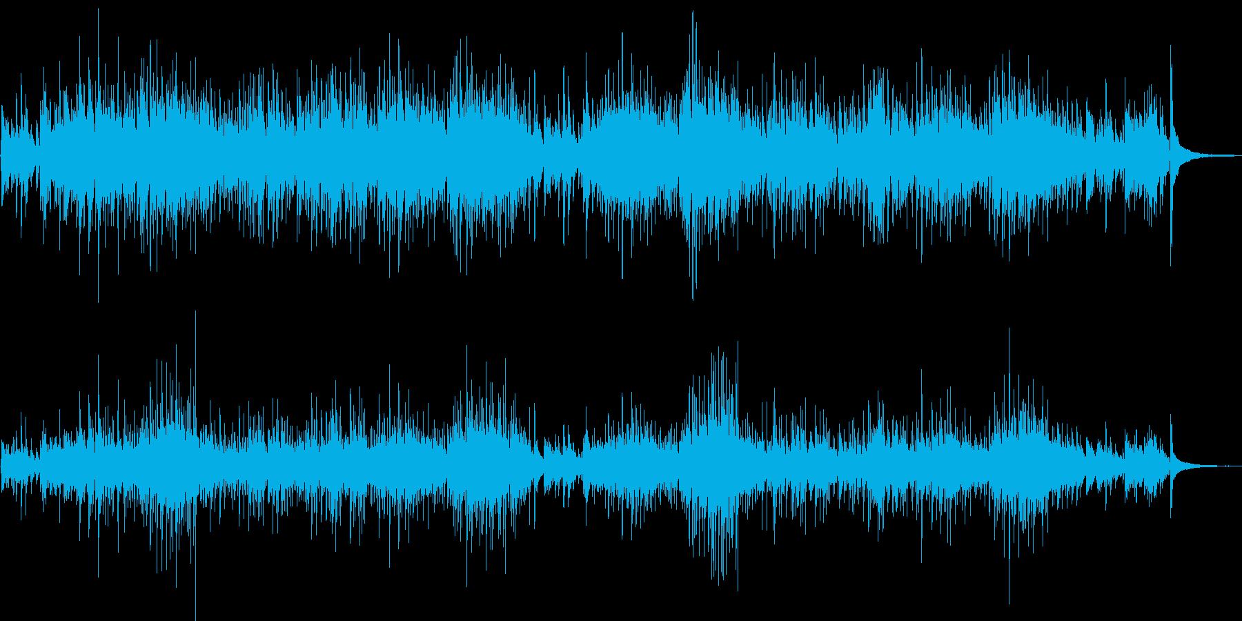 南米の民族楽器によるヒーリング曲の再生済みの波形