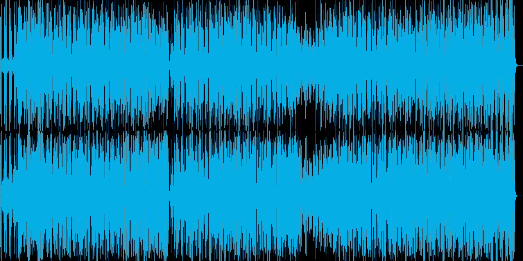 電子音が可愛らしい曲の再生済みの波形