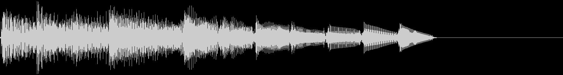 上昇音・キラーン・シャララン・電子音の未再生の波形
