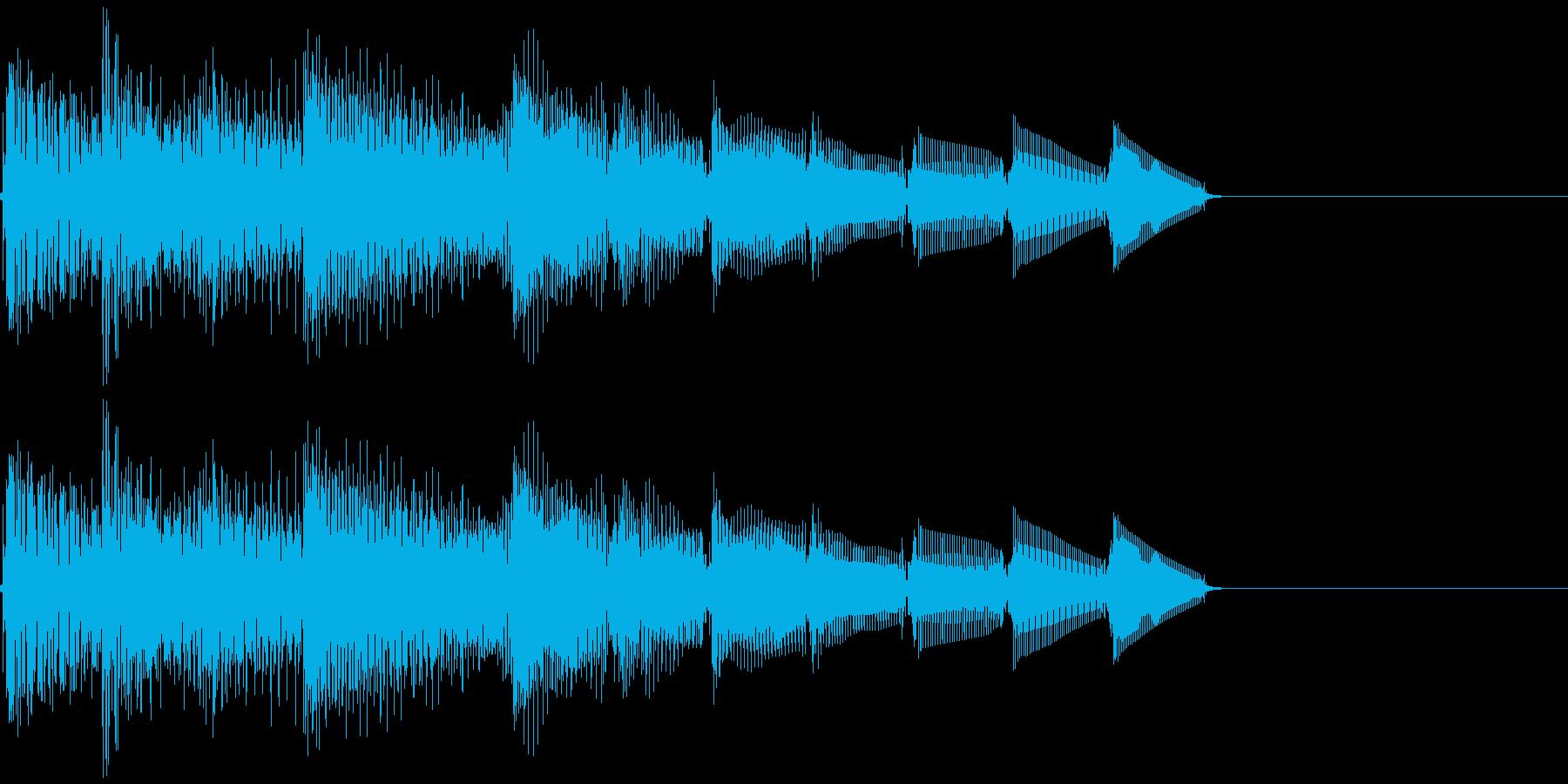 上昇音・キラーン・シャララン・電子音の再生済みの波形