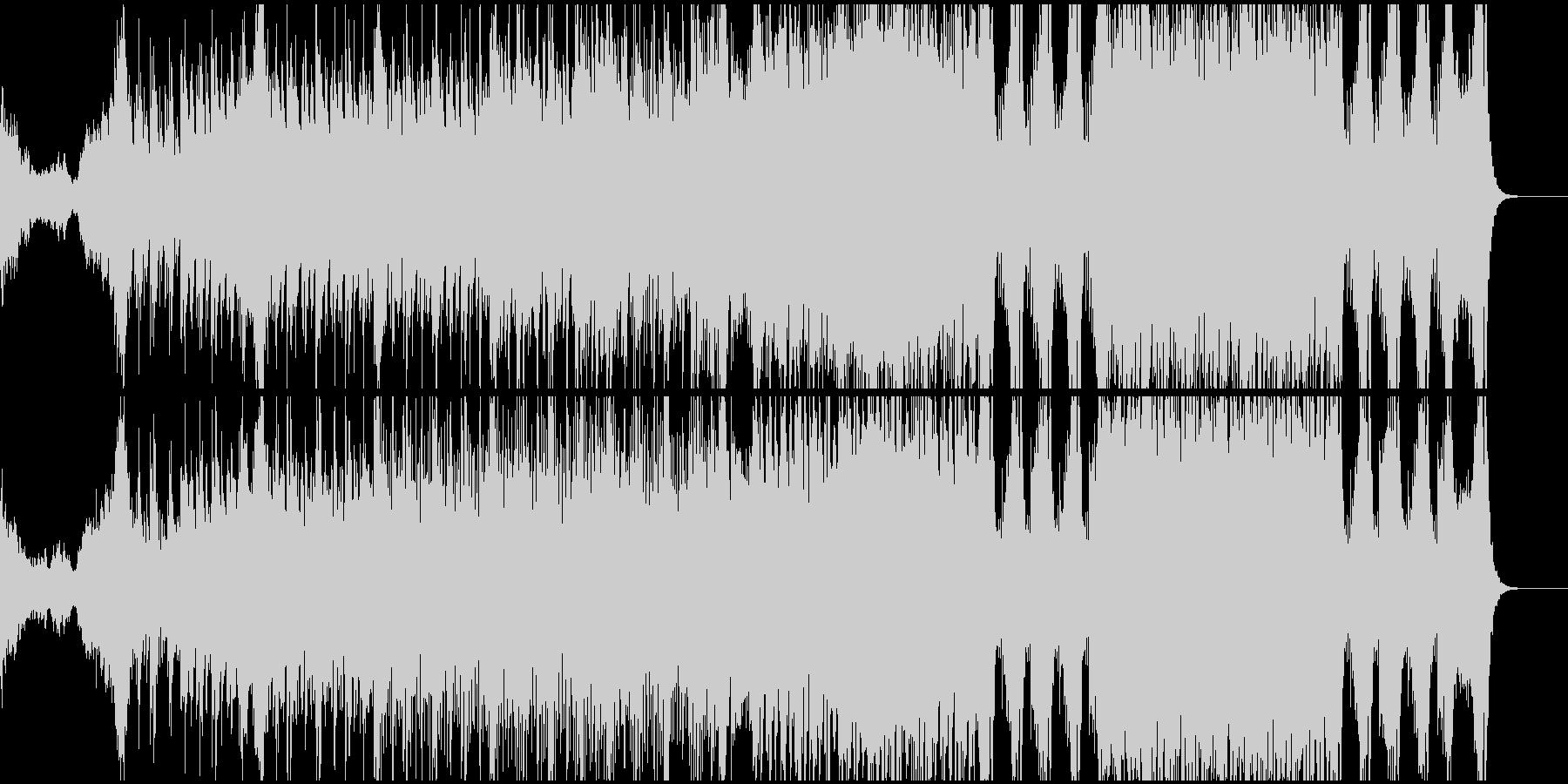 緊張感、スピード感ある和風オーケストラの未再生の波形
