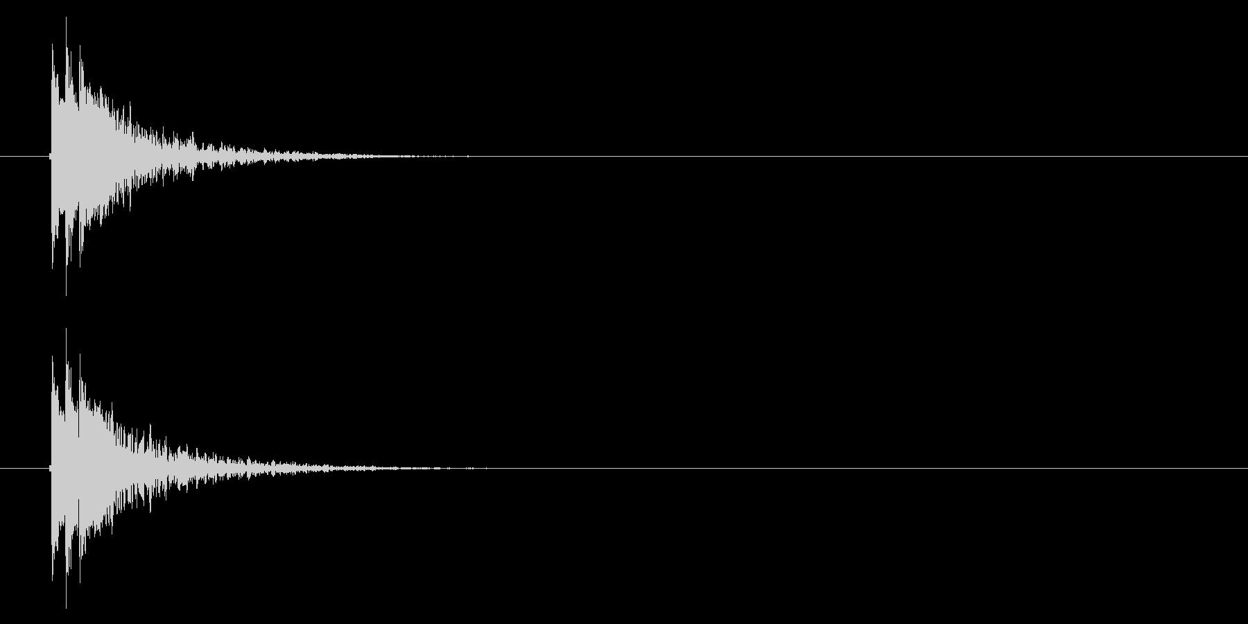トゥクトゥン(終了音、ドラム)の未再生の波形