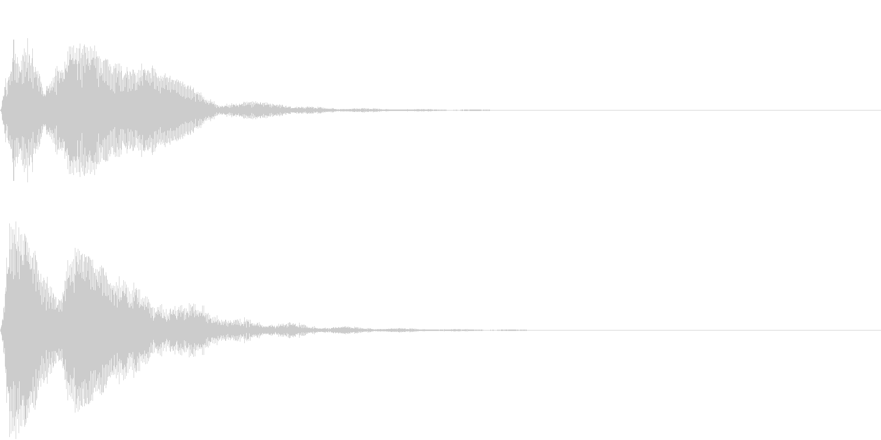 SF CinemaFX ダークなサウンドの未再生の波形