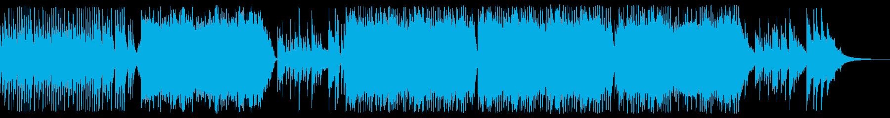 感動的な琴とストリングスの和風バラードaの再生済みの波形