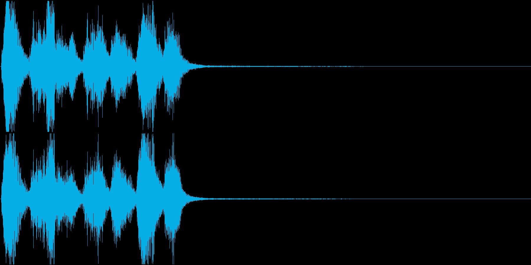 トランペット ファンファーレ 定番 3の再生済みの波形