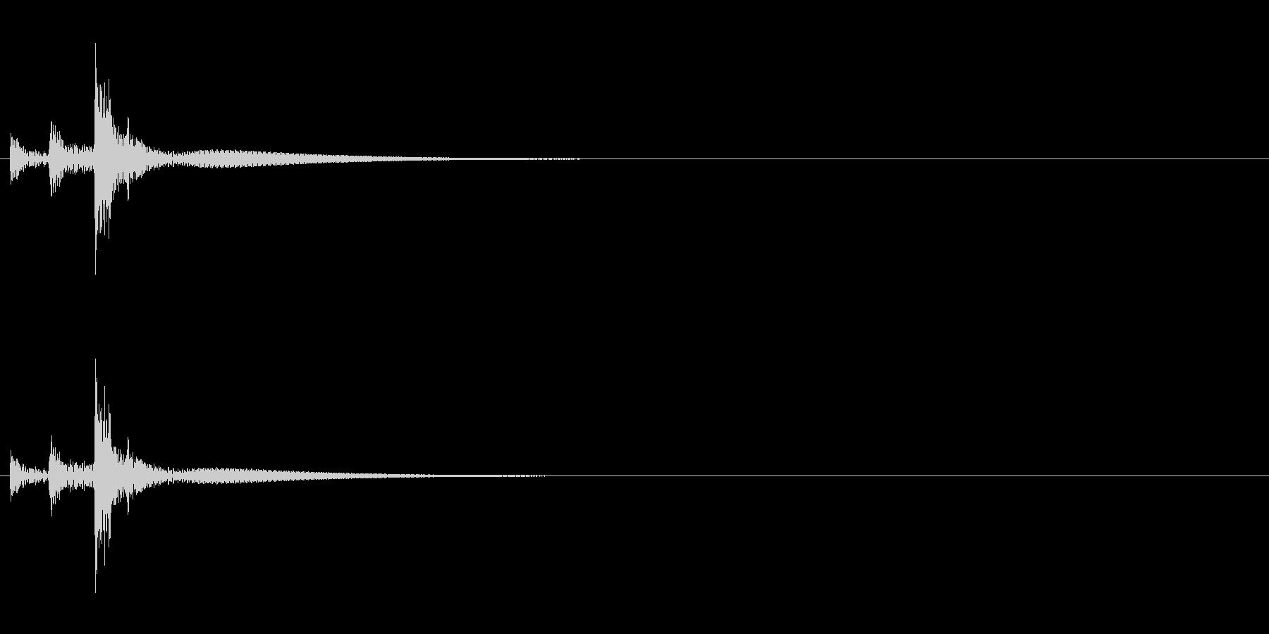 「トトトン」うちわ太皷の単発音の未再生の波形