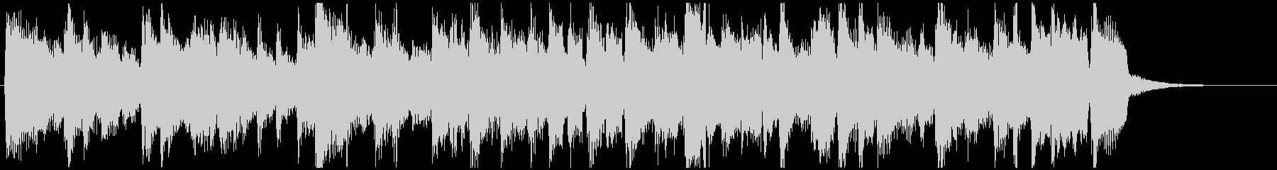 15秒CM向け、凛々しいサックスボサノバの未再生の波形