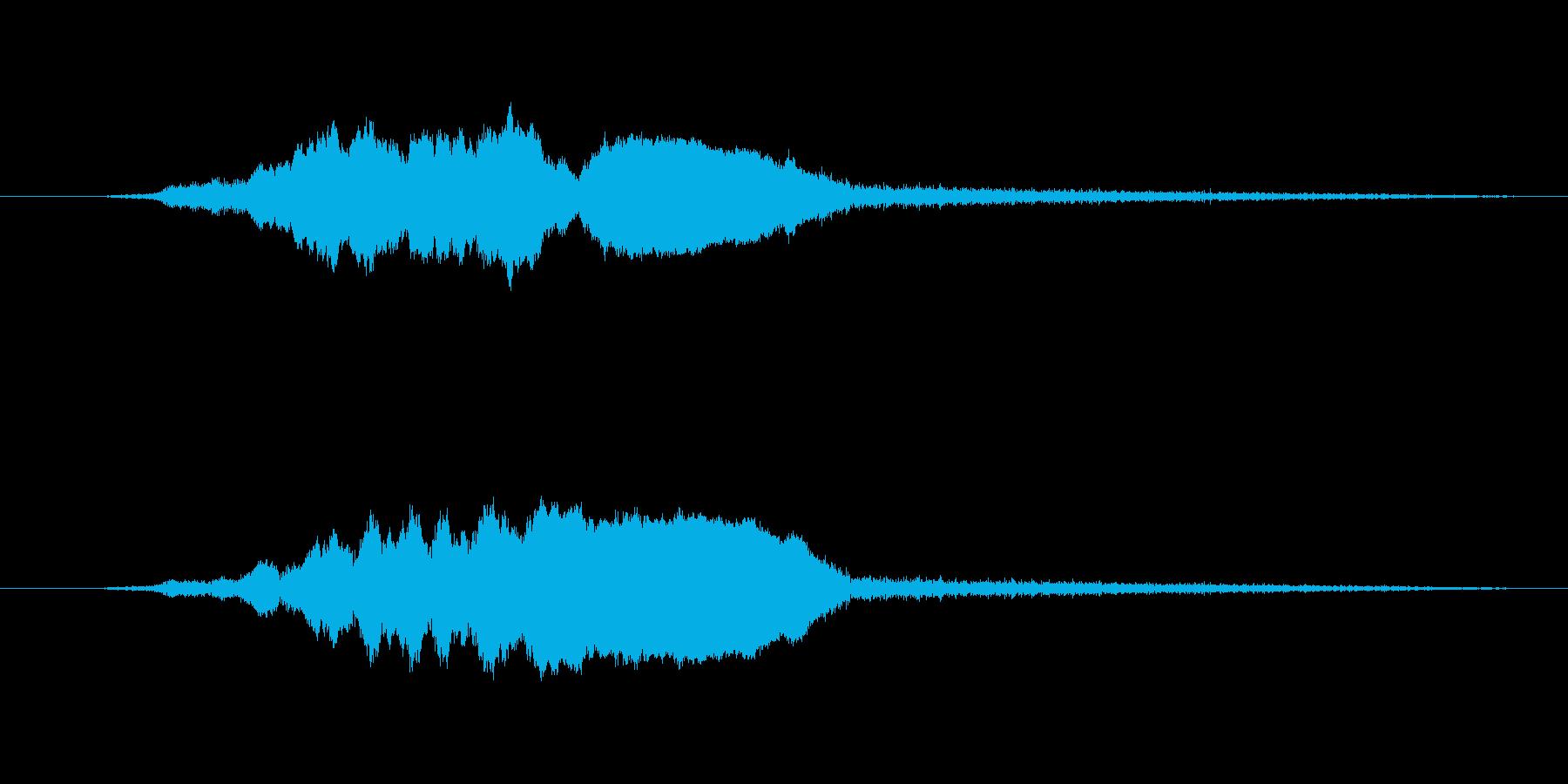 「ヒュイーン(コミカルな音)」の再生済みの波形