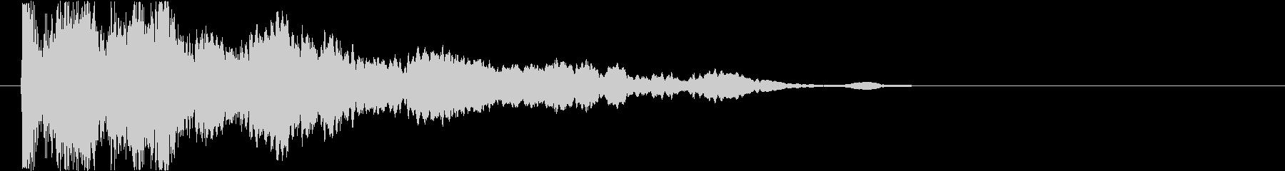 神秘的で透明感のあるインパクト音6の未再生の波形