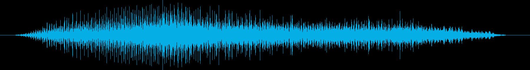 人間の怪物:遅い低うなり声、ドライの再生済みの波形