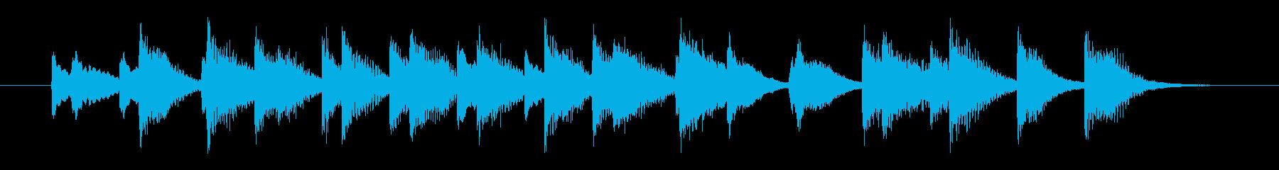陽気な酒場のホンキートンクピアノロゴの再生済みの波形