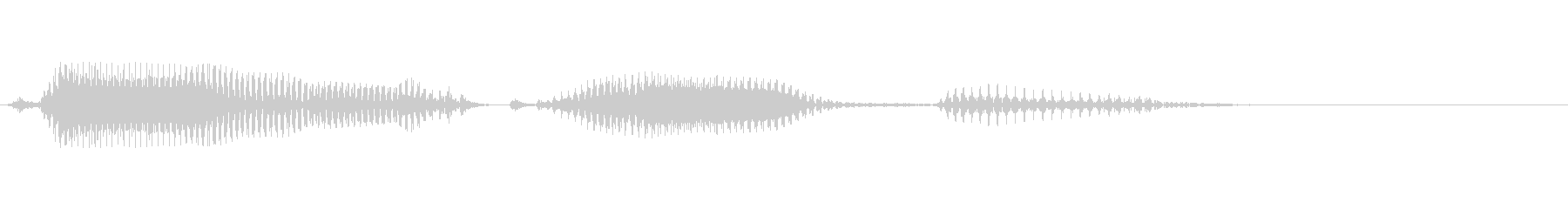 GameOverの未再生の波形