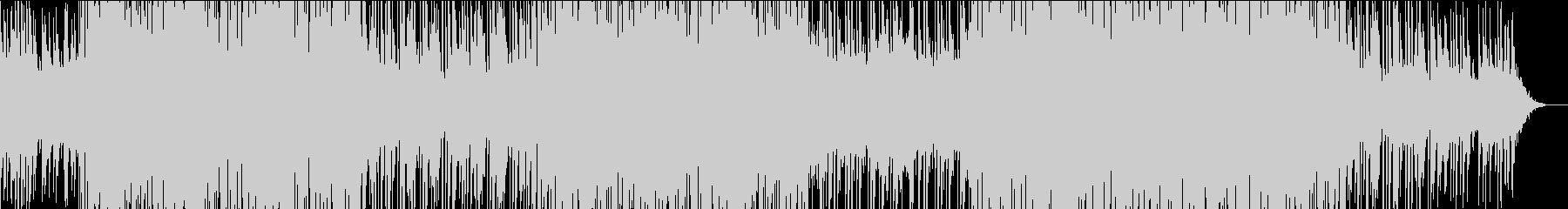 感情的メロディのエレクトロポップトラックの未再生の波形