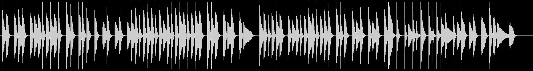 ゆったりほのぼの、ピアノとバイオリンの未再生の波形