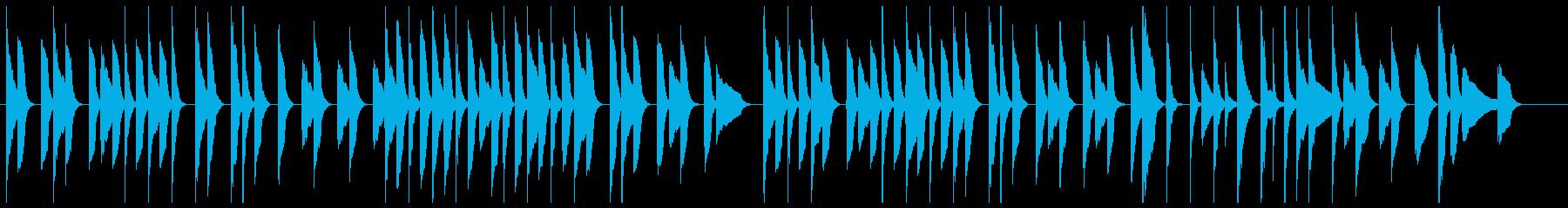 ゆったりほのぼの、ピアノとバイオリンの再生済みの波形